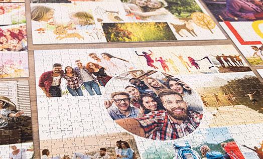 kolaż zdjęć du puzzli