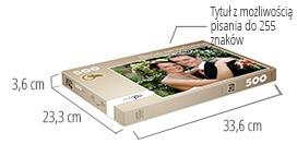Wielkość pudełka - fotopuzzle 500 elementów