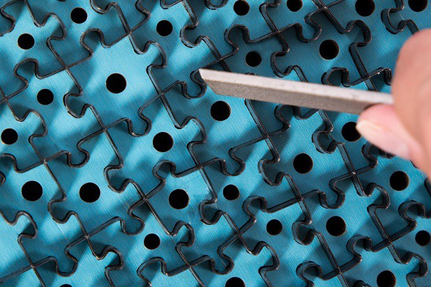 Szlachetna powierzchnia puzzli