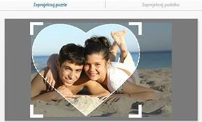Fotopuzzle 600 części, zaprojektuj serce