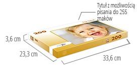 Wielkośc pudełka - fotopuzzle 200-elementowe