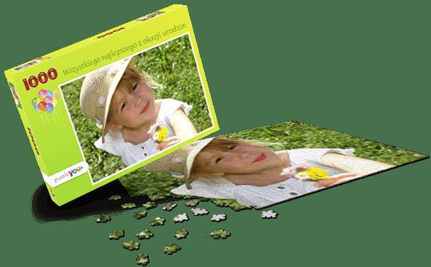 Pudełko do puzzli Urodziny dziecka