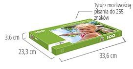Wielkośc pudełka - fotopuzzle 100-elementowe