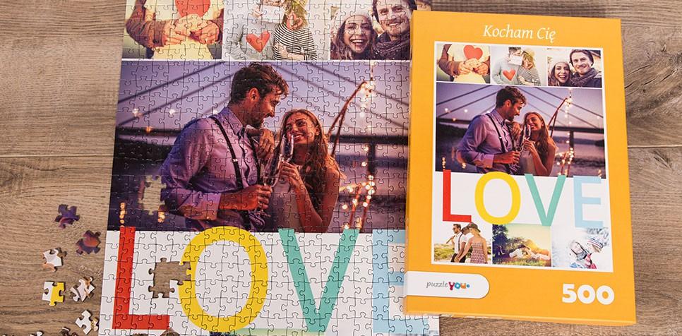 Fotopuzzle kolaż z tekstem