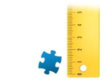 Porównanie wielkości pojedynczego elementu - fotopuzzle 500 elementów