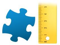 Porównanie wielkości pojedynczego elementu - fotopuzzle 100-elementowe