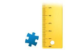 Porównanie wielkości pojedynczego elementu - fotopuzzle 2000 Teile