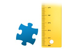 Porównanie wielkości pojedynczego elementu - fotopuzzle 200-elementowe