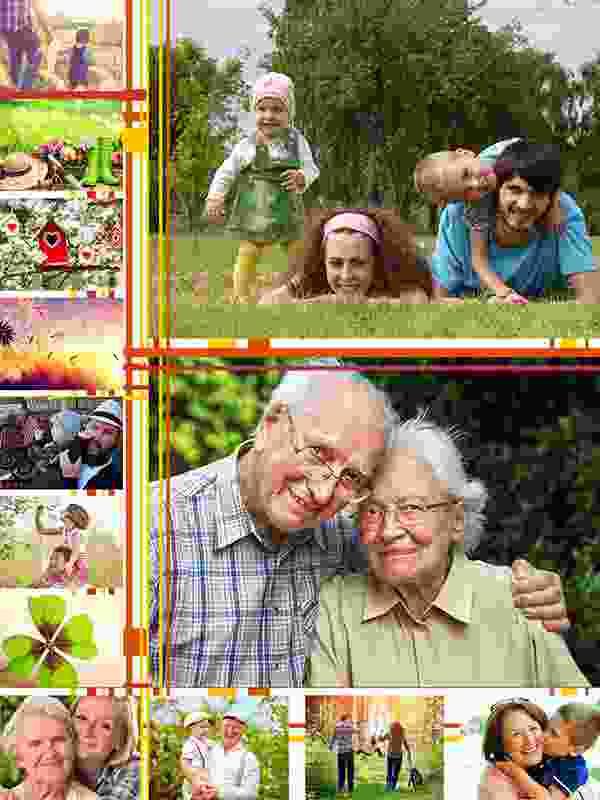 Kolaż do puzzli na 13 zdjęć - ilustracja