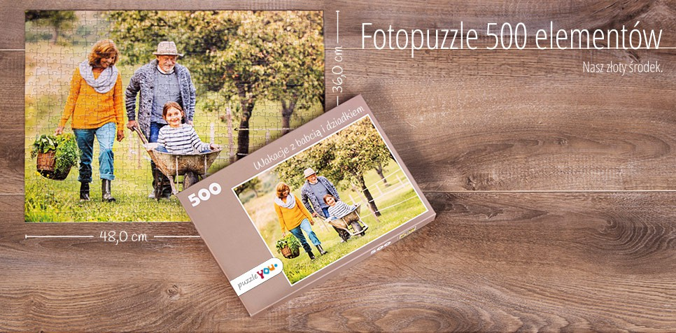 500-elementowe Fotopuzzle