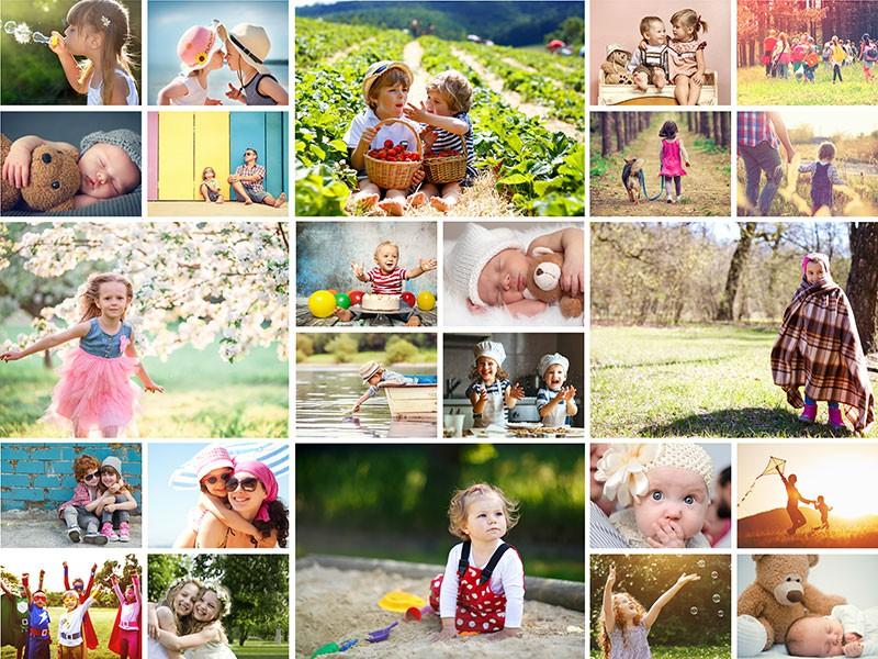 Kolaż do puzzli na 24 zdjęć - raster prosty